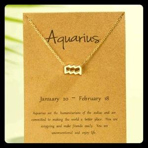 Jewelry - ♒Aquarius Zodiac Sign Necklace♒